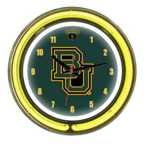 Baylor Bears Neon Wall Clock | Moneymachines.com