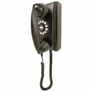 Crosley 302 Wall Phone Black - CR55-BK | moneymachines.com