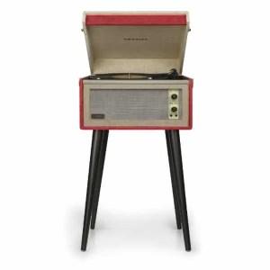 Crosley Bermuda Deluxe Turntable - Red - CR6233D-RE | moneymachines.com
