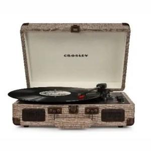 Crosley Cruiser Deluxe Turntable With Bluetooth - Havana Fabric | moneymachines.com