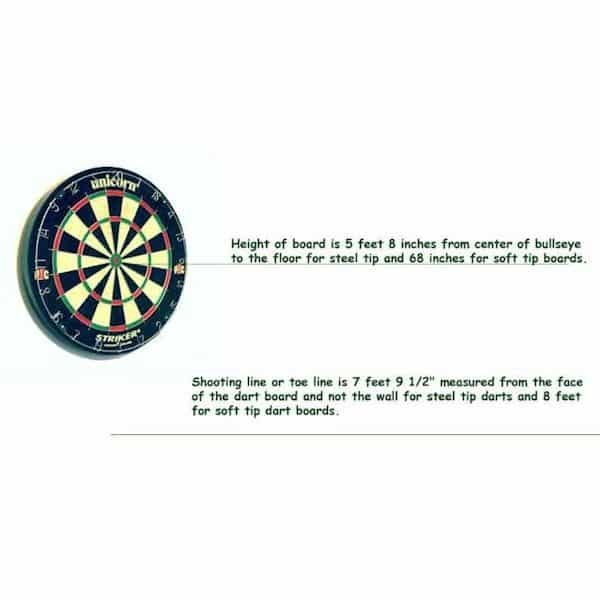 Dart Board Setup Instruction and Dimensions | moneymachines.com