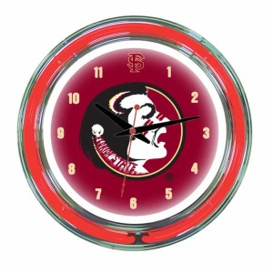 Florida State Seminoles Neon Wall Clock   Moneymachines.com