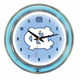 North Carolina Tar Heels Neon Wall Clock | Moneymachines.com
