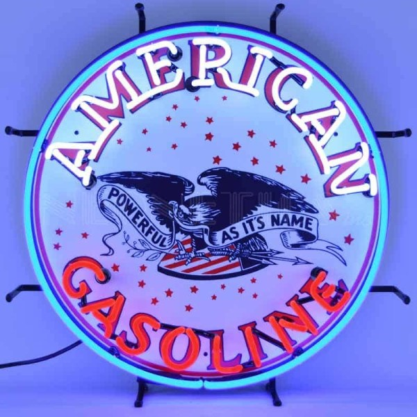 AMERICAN GASOLINE NEON SIGN – 5GSAMR | moneymachines.com