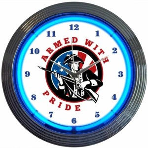 ARMED WITH PRIDE 2ND AMENDMENT NEON CLOCK – 8GUNAR | moneymachines.com