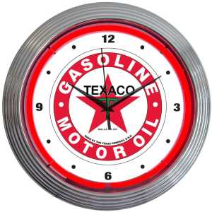 AUTO – TEXACO MOTOR OIL NEON CLOCK – 8TXOIL | moneymachines.com