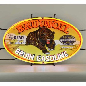 BRUINOIL BRUIN GASOLINE NEON SIGN – 5GSBRN | moneymachines.com