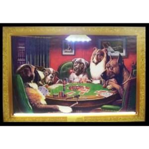 DOGS PLAYING POKER NEON/LED – 3DOGPK | moneymachines.com