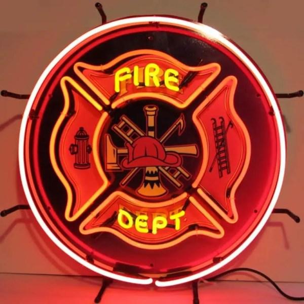 FIRE DEPARTMENT NEON SIGN – 5FIRED   moneymachines.com