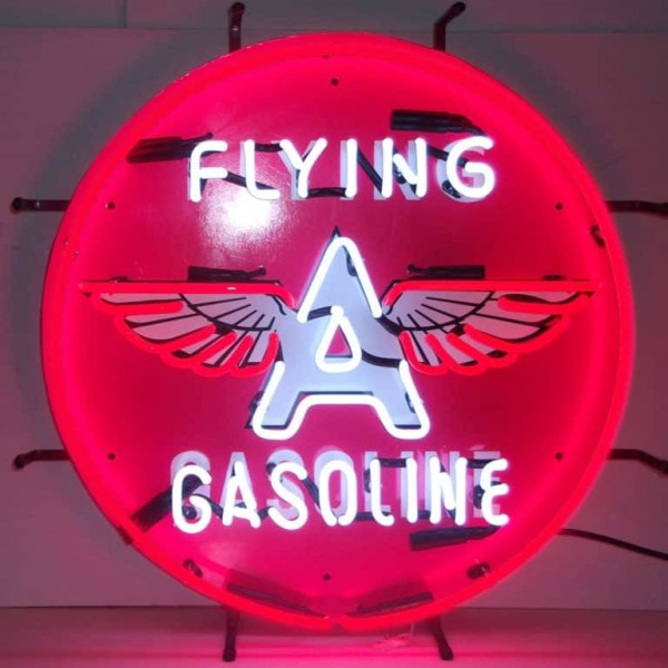 FLYING A GASOLINE NEON SIGN – 5GSFLY | moneymachines.com