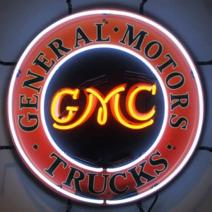 GMC TRUCKS NEON SIGN WITH BACKING – 5GMCBK | moneymachines.com