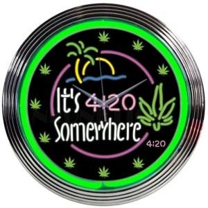 IT'S 4:20 SOMEWHERE NEON CLOCK – 8IT420   moneymachines.com
