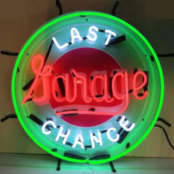 LAST CHANCE GARAGE NEON SIGN – 5LASTX | moneymachines.com