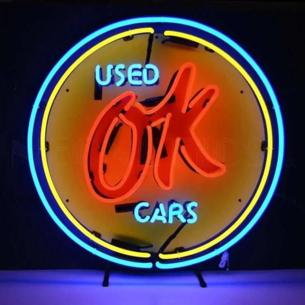OK USED CARS NEON SIGN – 5CHVOK   moneymachines.com