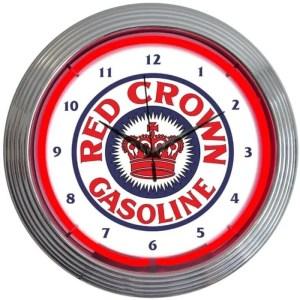 RED CROWN NEON CLOCK – 8CROWN   moneymachines.com