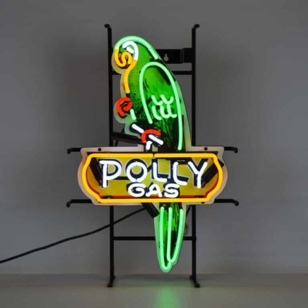 SHAPED POLLY GAS NEON SIGN WITH BACKING – 5POLLY | moneymachines.com