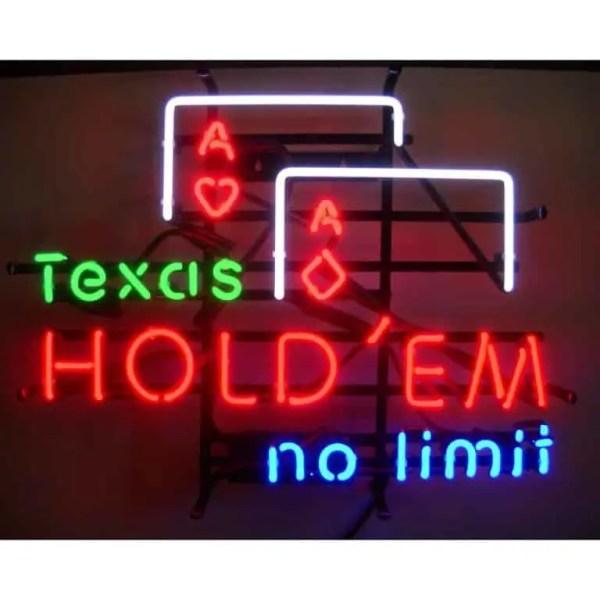 TEXAS HOLD EM NEON SIGN – 5TEXAS | moneymachines.com
