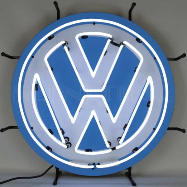 VOLKSWAGEN VW ROUND NEON SIGN – 5VWSGN | moneymachines.com
