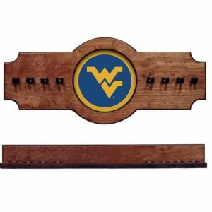 West Virginia 2-Piece Cue Rack Pecan | Moneymachines.com