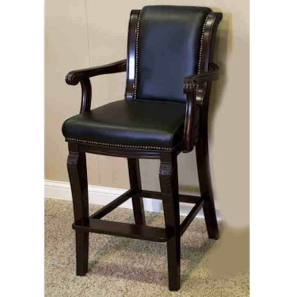 Winslow Spectator Chair With Carved Arms and Legs Mahogany   moneymachines.com
