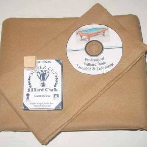 Proline Classic 303 Precut Camel Color Billiard Cloth Re-felting Kit   moneymachines.com