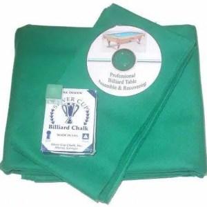 Proline Classic 303 Precut Tournament Green Color Billiard Cloth Re-felting Kit   moneymachines.com