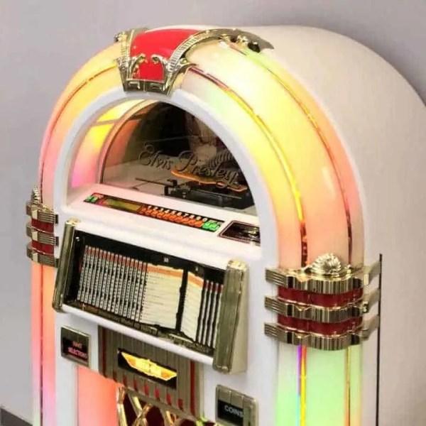 Rockola Elvis Jukebox White Top | moneymachines.com