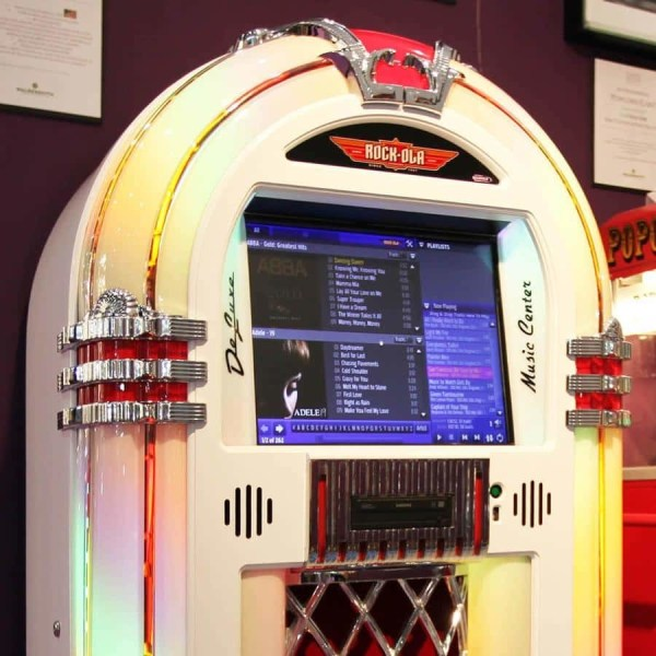 Rockola White Jukebox Upper | moneymachines.com