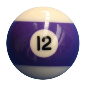 New Individual Number Twelve (12) Billiard Pool Ball | moneymachines.com