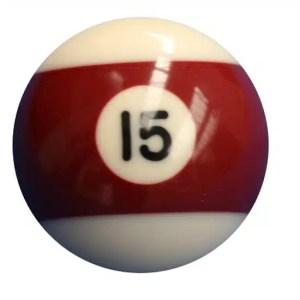 New Individual Number Fifteen (15) Billiard Pool Ball   moneymachines.com
