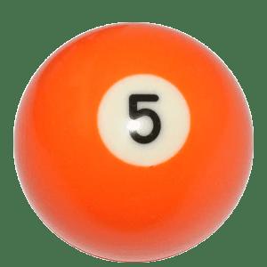 New Individual Number Five (5) Billiard Pool Ball | moneymachines.com