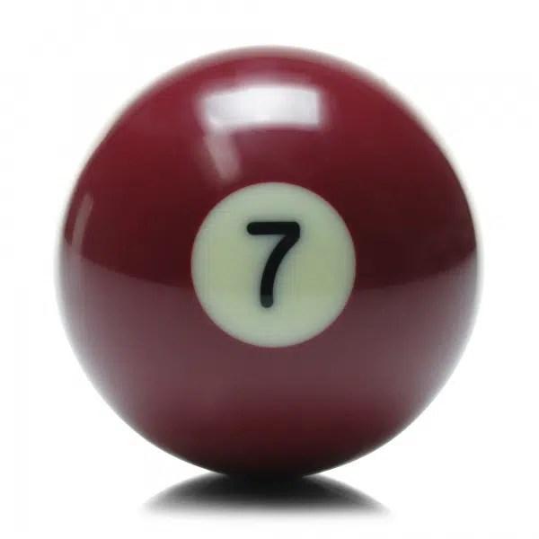 New Individual Number Seven (7) Billiard Pool Ball | moneymachines.com
