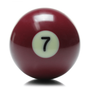 New Individual Number Seven (7) Billiard Pool Ball | moneymachines.com