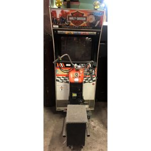 Sega Harley Davidson and LA Riders Motorcycle Driving Arcade Game Machine | moneymachines.com