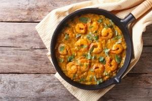 Prawn Curry With Mango Chutney