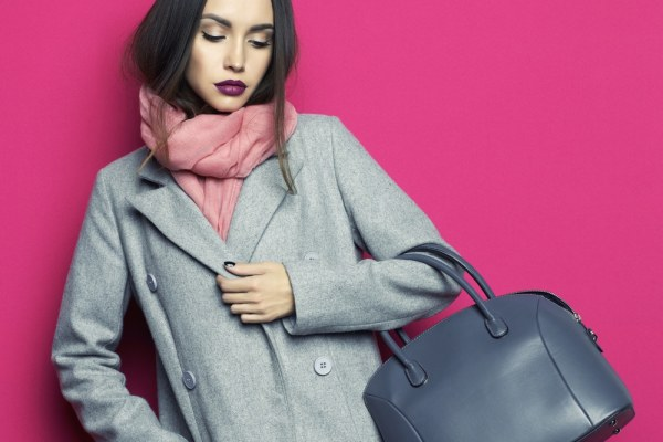 Catalogue model in winter clothes
