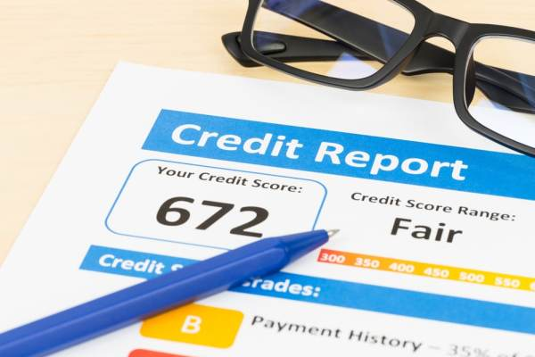 Fair score on credit report