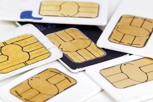 pile of sim cards