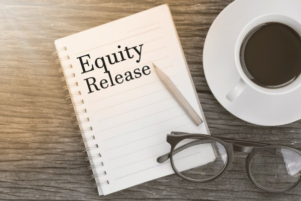 Equity Release written on notepad