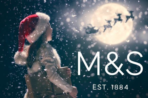 Marks and Spencer Christmas Banner