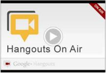 Hangouts on air