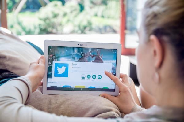 Twitter app on tablet