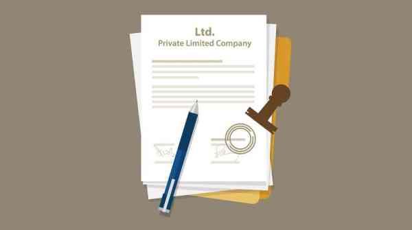 Ltd. Company registration forms graphic