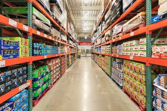 Wholesale shop aisle