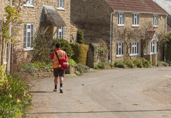 Postman in English village