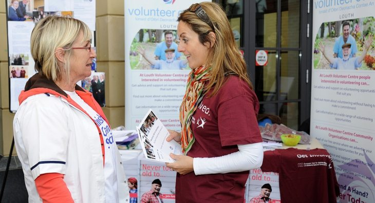 Voluntary work – Many more older people want to use their free time helping others