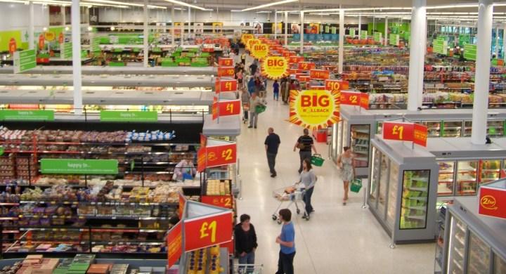 Supermarket sale signs
