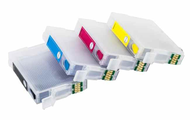 Empty printer ink cartridges