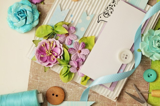 Arts and crafts materials for greetings card making