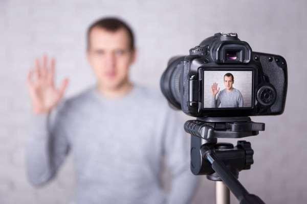 Man making personal video